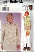 Butterick 3013 Today's Fit Jacket Vest Pattern