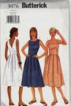 Butterick 3076 Sun Dress Sewing Pattern UNCUT