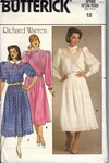 Butterick 3160 Size 12 Richard Warren Dress Pattern UNCUT