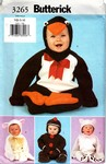 Butterick 3265 NB-S-M Toddler Costume Pattern Various UNCUT