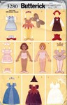 "Butterick 3280 Fabric ""Paper"" Doll & Clothes Pattern UNCUT"