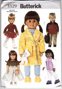Butterick 3329 Doll Clothes Pattern 18 Inch Uncut