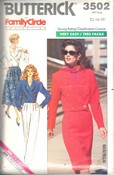 Butterick 3502 Family Circle Separates Pattern UNCUT