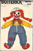 Butterick 3510 Clown Learning Doll Pattern UNCUT