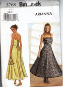 Butterick 3768 Cocktail Dress Pattern Arianna UNCUT