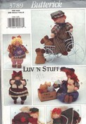Butterick 3789 Luv 'N Stuff Best Friends Stuffed Doll Pattern UN