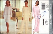 Butterick 3899 Wardrobe Pattern Large Uncut
