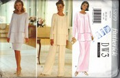 Butterick 3899 Wardrobe Pattern XL Uncut