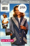 Butterick 392 Luv 'n Stuff Jacket Strip-Quilted Pattern