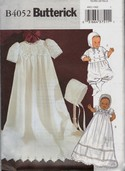 Butterick B4052 Infants' Dress, Jumpsuit and Hat Pattern UNCUT
