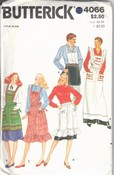 Butterick 4066 Apron Pattern Varied Lengths UNCUT