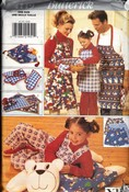 Butterick 4119 Holiday Apron Accessory Pattern UNCUT