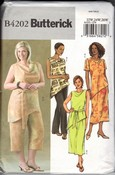 Butterick 4202 Plus Size Tunic Pants Skirt Sewing Pattern