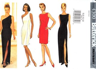 Butterick 4300 Evening Dress Sewing Pattern UNCUT