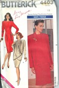 Butterick 4403 Misses Jacket Dress Pattern UNCUT Large