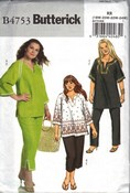 Butterick 4753 Plus Size Tunic Pants Sewing Pattern