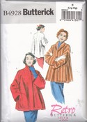 Butterick B4928 Size Z Retro '52 Swing Jacket Coat Pattern UNCUT