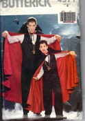 Butterick 4971 Adult Vampire Costume Pattern UNCUT