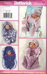Butterick 5091 Small Infant Bunting and Hat Pattern