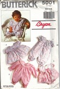Butterick 5001 Infant Dress Party Pants Pattern UNCUT