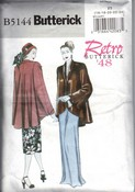 Butterick 5144 Retro '48 Coat Pattern XL UNCUT