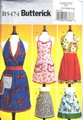 Butterick B5474 Charming Retro Apron Pattern NEW