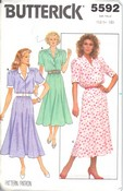 Butterick 5592 Vintage Dress Pattern UNCUT