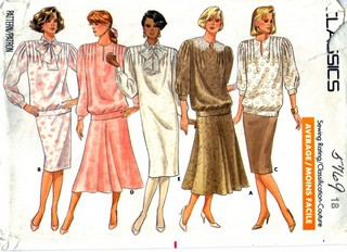 Butterick 5769 Misses Dress Top Skirt Pattern Size 18 UNCUT