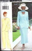 Butterick 5940 Jacket Top Skirt Pants Scarf Pattern UNCUT Large