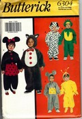 Butterick 6304 Toddler Animal Costume Pattern UNCUT