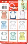 Butterick 6484 Toddlers Pinafore Dress Pattern