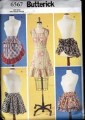 Butterick 6567 Retro Reproduction Apron Pattern UCNUT