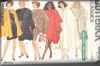 Butterick 6854 Cape and Stole Sewing Pattern UNCUT