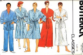 Butterick 6968 Unisex Robe and Pants Pattern UNCUT