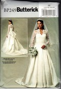 Butterick BP249 Royal Wedding Bridal Dress Pattern Large UNCUT