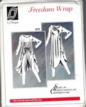 L J Designs Freedom Wrap 777 Sewing Pattern Uncut