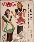 McCalls 1367 Heart Shaped Vintage 1947 Apron Pattern UNCUT