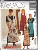 Mccall's 2256 Dress Jumper Sewing Pattern XL UNCUT