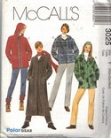 McCalls 3025 Polar Gear Outwear Pattern UNCUT