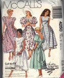 McCalls 4250 Summer Dress Pattern Size D Uncut