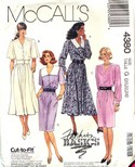 McCalls 4380 Cut to Fit Dress Pattern UNCUT