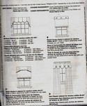 McCalls 4536 Valance Shade Curtain Pattern UNCUT
