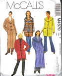 McCalls M4670 Coat Pattern UNCUT