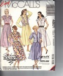 McCalls 4801 Vest Dress Pattern UNCUT