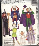 McCalls 4946 Children's Medium Halloween Costume Pattern