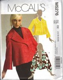 McCalls 5276 Modern Jacket Pattern UNCUT
