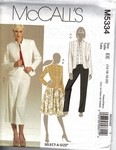 McCalls 5334 Modern Suit Pattern UNCUT