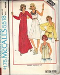 McCalls 5518 Casual Dress Top Pattern