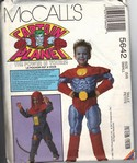 McCalls 5642 Sml Captain Planet Costume Pattern UNCUT