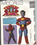 McCalls 5642 ES Captain Planet Costume Pattern UNCUT